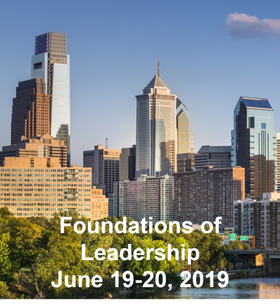 Foundations of Leadership - June 19-20 2019